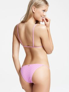 Mesh Triangle Top - Victoria's Secret Swim - Victoria's Secret #swimwear #bikini #swim | SHOP @ ExpressSwimsuits.com