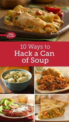 10 Ways to Hack a Can of Soup is part of Easter snack mix recipes St. Patrick's Day - A can of soup becomes a hearty casserole, creamy pot pie and more with these clever recipe ideas Casserole Recipes, Crockpot Recipes, Chicken Recipes, Cooking Recipes, Healthy Recipes, Chicken Ideas, Snacks Recipes, Pie Recipes, Vegetable Recipes