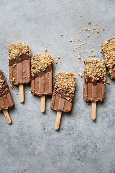 Secret Ingredient Peanut Butter Fudgesicles - The Green Life