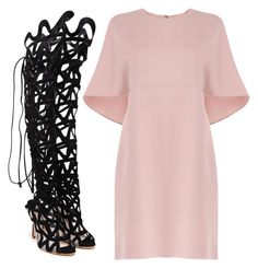Blush & Black by carolineas on Polyvore featuring polyvore, fashion, style, Valentino, Sophia Webster, women's clothing, women's fashion, women, female, woman, misses and juniors