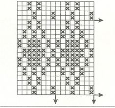 Филейные узоры крючком 19, схема.