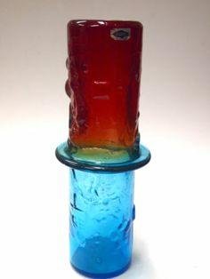 Nuutajarvi Finland Oiva Toikka Bambu Vase 1960s RARE   eBay Antique Glassware, Modern Glass, Nordic Design, Finland, Contemporary Design, 1960s, Glass Art, Mid Century, How To Apply