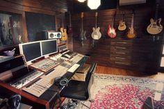 Outside of Melbourne Victoria Australia, The Stables Recording Studio & Accom Home Studio Musik, Music Studio Room, Studio Setup, Music Rooms, Studio Ideas, Music Recording Studio, Recording Studio Design, Studio Interior, Room Interior