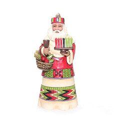 Enesco Jim Shore African Santa Around World Ornament