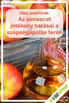 Bőrápolás:  Mivel az almaecet enyhén savas ezért a bőrre hámlasztó hatással van. Ugyanakkor mivel a pH-értéke közel áll a bőrünkéhez, így segít helyreállítani az egyensúlyt. Keverjünk össze 2-3 deciliter almaecet egy kád meleg vízben, majd áztassuk benne magunkat 10-15 percig. Ha ezzel végeztünk, akkor öblítsük le magunkat. Wellness, Vegetables, Food, Enterprise Application Integration, Therapy, Essen, Vegetable Recipes, Meals, Yemek