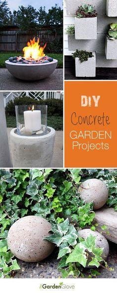 DIY Concrete Garden Projects • Ideas & Tutorials! À essayer à Gatineau Trucs pour le jardin