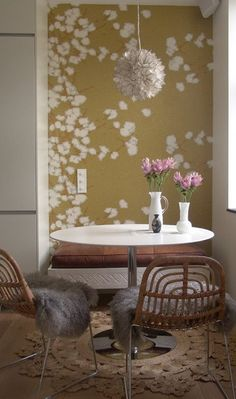 Making It Pop: Wallpapered Kitchen Nooks | The Kitchn