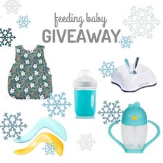 We've teamed up with some of our favorite mama-owned and mission driven brands to bring you this wintery-themed Feeding Baby Giveaway! #blw #babyfood #numnum #babyspoon #parenting