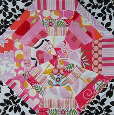 Spiderweb block for Becca by flossyblossy, via Flickr