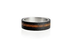 Concrete ring Gravelli Simple Wood in anthracite variant.