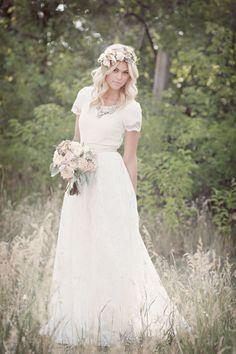Airy Lace - Modest Wedding Gown