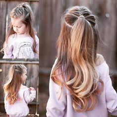 I have to say, my absolute favorite hair trend right now is the super high half up ponytail! Why not add a braid to it? For a how to description, check out our post on @cutegirlshairstyles blog! Link in bio!: