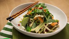 Asian Glass Noodle Salad with Sweet & Sour Sesame Dressing