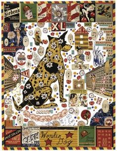 Wonder Dog, mixed media, 2004