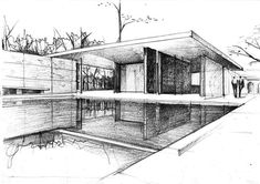 "mies van der rohe architecture sketches Q: Do these ""quantifiable"" have echoes today? Architecture Design, Architecture Concept Drawings, Architecture Sketchbook, Architecture Portfolio, Perspective Sketch, Architect Drawing, Google Search, Sketch Inspiration, Sketch Design"