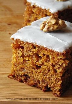 Sweets Recipes, No Bake Desserts, Delicious Desserts, Cake Recipes, Cooking Recipes, Polish Desserts, Polish Recipes, Healthy Cake, Sweet Cakes