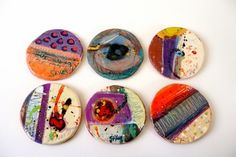 Linda Styles - Round hand cut multi surfaced tiles