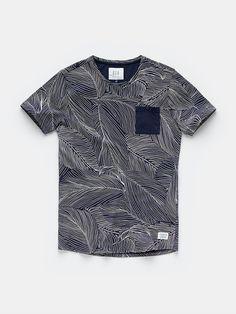print t-shirt darkblue