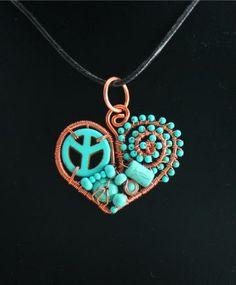 91d1512a1 Peace of My Heart Pendant by Whitecloverstudios for $30.00 #zibbet  http://www