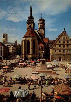 Markt auf dem Schillerplatz, 60er Jahre  https://www.facebook.com/stuttgarthistorisch/photos/a.193233527475046.46820.193231040808628/1157613487703707/?type=3