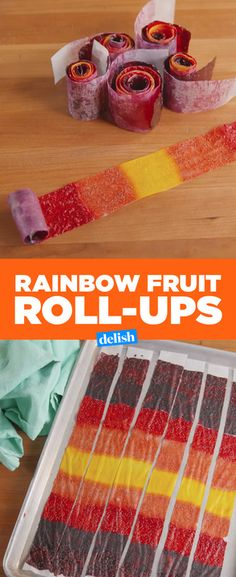 These Rainbow Fruit Roll-Ups are just like the ones you loved as a kid, only WAY healthier. Get the recipe from Delish.com.