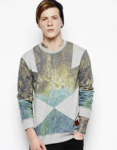 River Island Holloway Road Merlin Panel Sweat