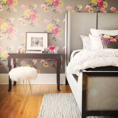 Bold and whimsical bedroom