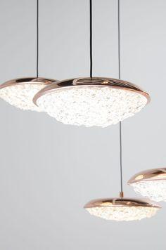 Pendant lamp / contemporary / brass / crystal ORIGO Manooi