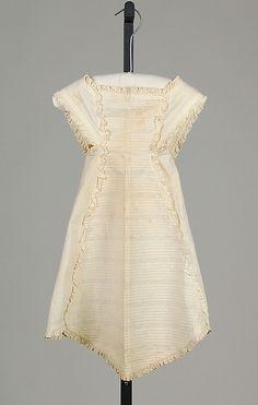 Apron, 1860, cotton--I'm guessing that it's a child's apron
