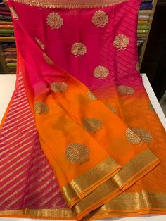 14 Attractive price of pure chiffon sarees. Buy Chiffon sarees at best price in siri designers. You will find chiffon saree with a price that will fit your budget. Chiffon Saree, Pure Georgette Sarees, Satin Saree, Indian Silk Sarees, Pure Silk Sarees, Cotton Saree, Banarsi Saree, Ethnic Sarees, Saree Blouse Patterns
