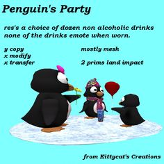 Merchant: Kittycat's Creations Prize Name: Penguin's Party Prize Type: Decor