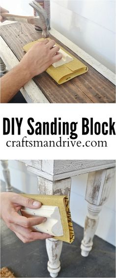 Quick fix to when you are in need of a sanding block, and all you have is sanding paper.