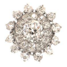 CARTIER COCKTAIL RINGS | CARTIER Diamond Platinum Dress Ring at 1stdibs