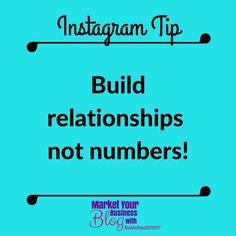 Instagram Tip: Build relationships not numbers! Remember followers are REAL people (at least the ones you want). Take your time building your followers & build relationships with each of them. It's more important to build good relationships then to have 10.000 followers overnight.    Want to learn more about building your business using Instagram? Or want to work closely with me? Click the link in my bio @RobinSmith2007 and join my community!  #marketyourbusinessblog