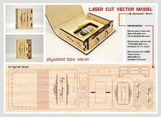 Laser cut vector model. Instant download. Wooden small box. Wedding USB case, Wedding USB box, Wedding story, Love story, WS-01