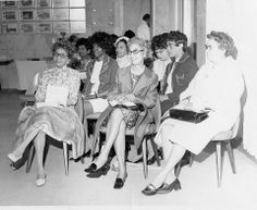 Founder Eliza P Shippen seated first from the left and Founder Oseola McCarthy Adams seated in the middle at a Delta Sigma Theta Washington DC Alumnae Meeting.