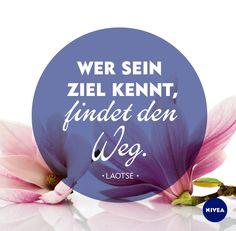 Wer sein Ziel kenn, findet den Weg. #Zitate #Motivation #Inspiration #Worte #NIVEA