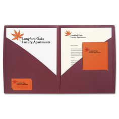 impact designer two pocket folder 11 x 8 12 burgundy