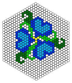 Flower Design Perler Bead Pattern