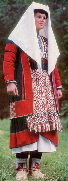 Croatia- Vrlika- Married woman's clothing for winter