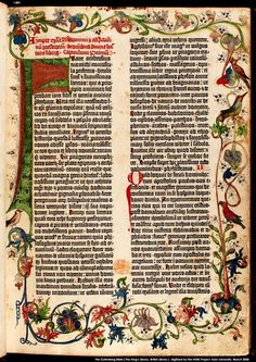 I saw this, and it was amazing!  The Gutenberg Bible- Published on Velum between 1452 & 1455. 40 years before Columbus came to America!!!!!  This revolutionized books.