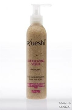 Kueshi 200ml Απαλό απολεπιστικό γαλάκτωμα με φυσικούς κόκκους καρυδότσουφλου. Απολεπίζει το δέρμα απομακρύνοντας τα νεκρά κύτταρα και τους ρύπους και βοηθά στην μείωση των λεπτών γραμμών χάρη στο συνδυασμό των αναπλαστικών και ενυδατικών  ελαίων που περιέχει. Συγκεκριμένα βούτυρο κακάο, αμυγδαλέλαιο και σιτέλαιο. Χρήση: 1-2 φορές την εβδομάδα σε βρεγμένο πρόσωπο. Απλώστε μια μικρή ποσότητα, κάντε απαλό μασάζ  με κυκλικές κινήσεις και ξεβγάλετε. Τιμή €11.00 Whiskey Bottle, Shampoo, Facial, Soap, Facial Care, Face Care, Soaps