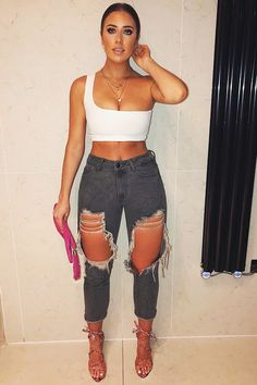 1521fb5db54cd 13 Best Ripped Mom Jeans images in 2017   Korean Fashion, Dressing ...