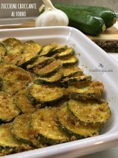 Zucchine croc canti al forno Italian Recipes, Vegan Recipes, Cooking Recipes, Antipasto, I Love Food, Good Food, Summer Recipes, Finger Foods, I Foods