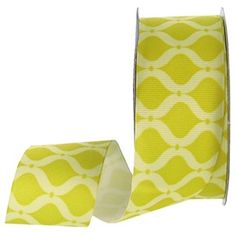"the Ribbon Boutique 1 1/2"" Yellow Tonal Geo Grosgrain Ribbon 