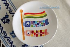 minne(ミンネ)| こいのぼりの絵皿 Minne, Japanese Culture, Plates, Tableware, Licence Plates, Dishes, Dinnerware, Griddles, Tablewares