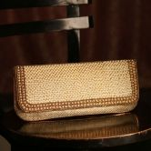 Ladybugbag Pearl Studded Golden Handbag For Women