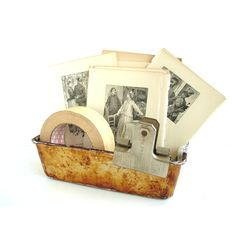 Vintage Metal Bread Loaf Baking Pan / Tin with Unique Baked-on Patina... ($10) ❤ liked on Polyvore