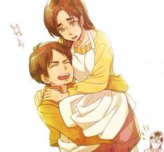 Eren and his mom
