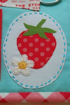 strawberry and daisy stitchery